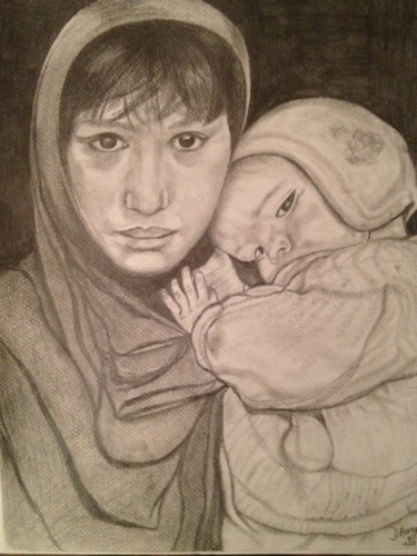 """MERE & ENFANT AFGHANE"" (Mother & Afghan child)"